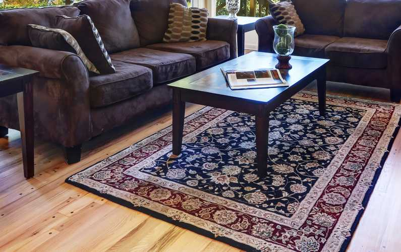 Cleaning rugs in home